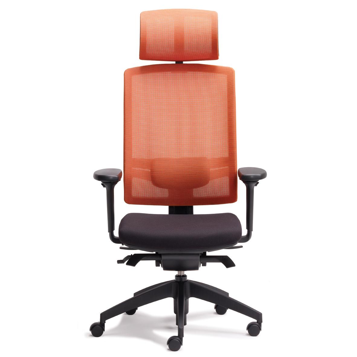 linea hi back red mesh towercor office furniture